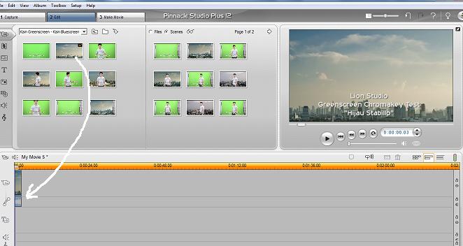 Mengganti Background Video Dengan Teknik Green Screen Menggunakan Pinnacle Studio 1
