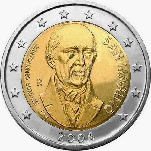 2 euro commemorative coins San Marino 2004 Bartolomeo Borghesi