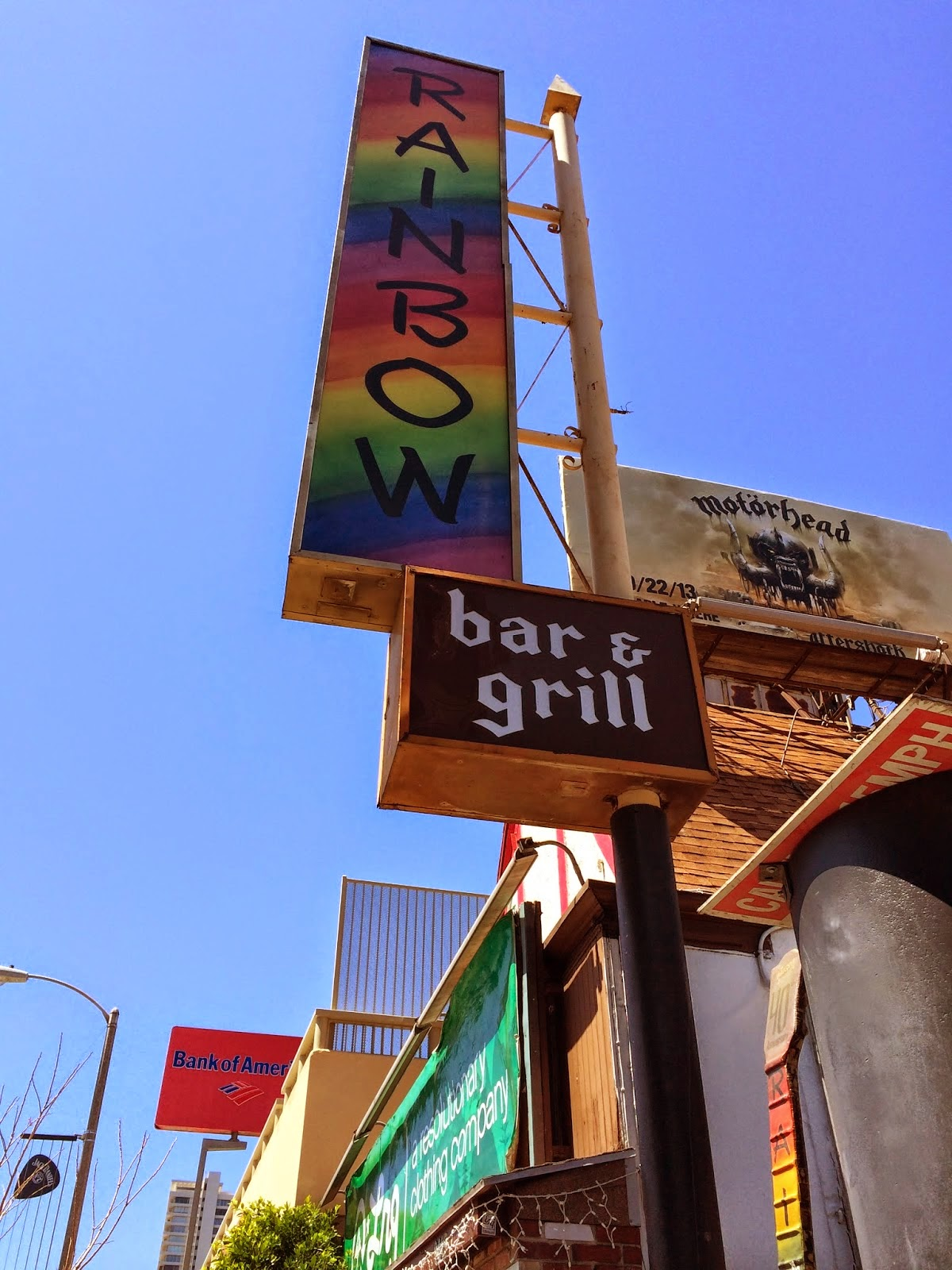 Rainbow bandnaam inspiratie - Rainbow Bar Grill Hollywood