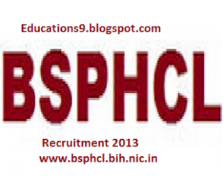 Power Holding Company Limited Recruitment 2013 www.bsphcl.bih.nic.in