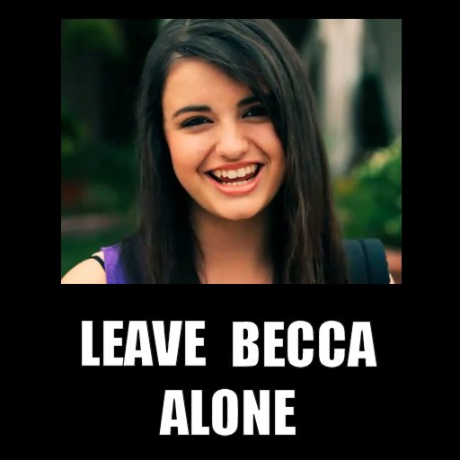 Beccaposter3 my so called virtual life meme rebecca black & 'friday'