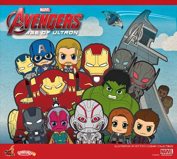 Avengers: Age of Ultron Cosbaby Series Vinyl Figures by Hot Toys