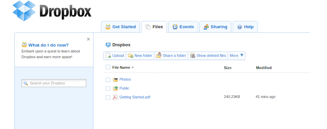 dropbox interface
