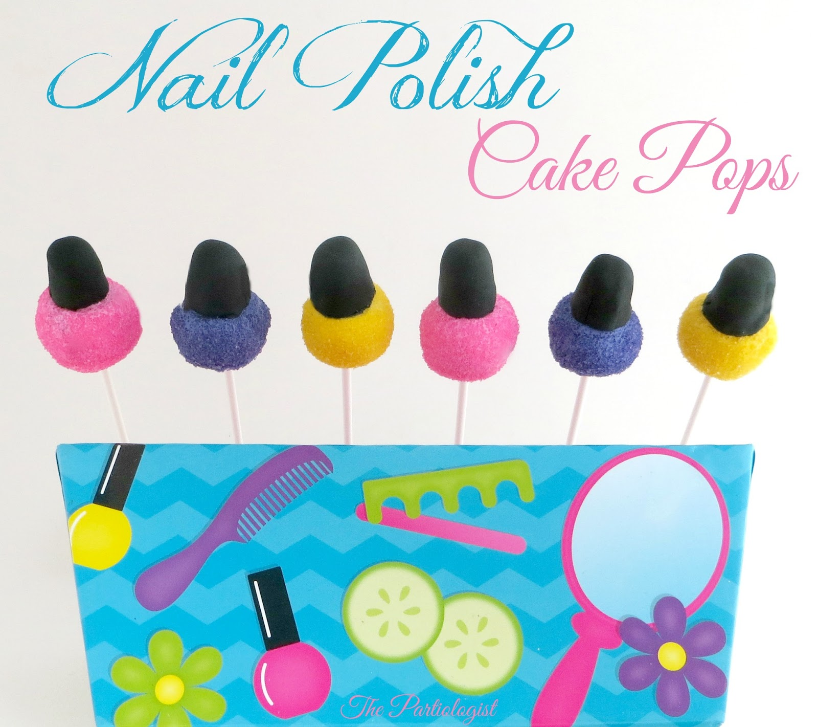 Cake Nail Polish Designs: The Partiologist: Nail Polish Cake Pops