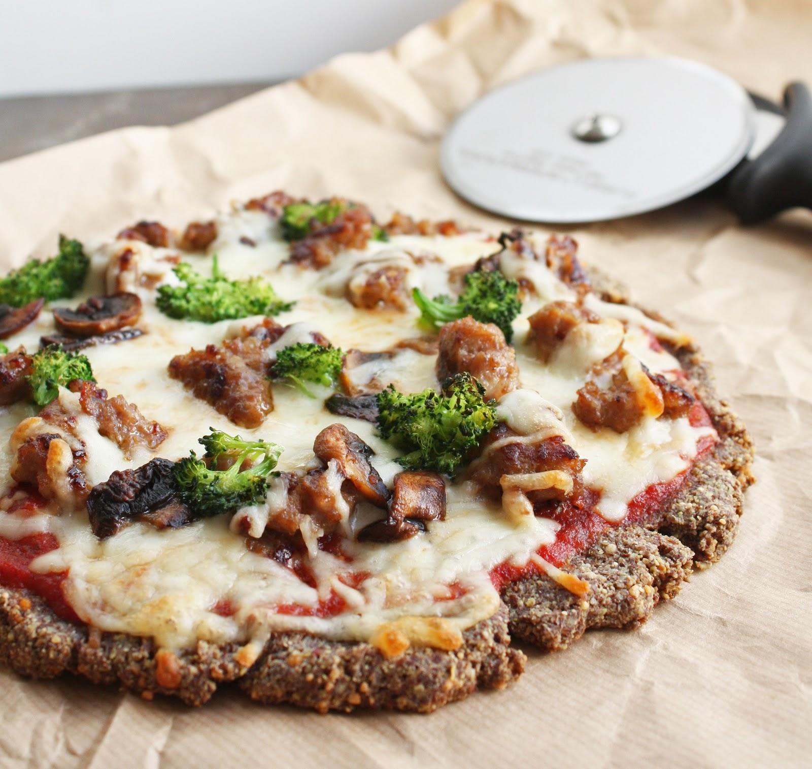 Low Carb Flax Parmesan Pizza Crust Gluten Free I Breathe I M