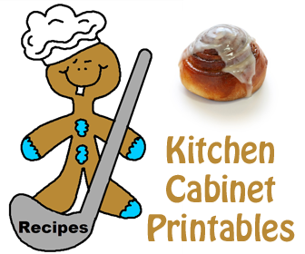 Kitchen Cabinet Printables