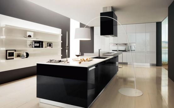 Ideas de dise o de cocinas en blanco y negro decorar for Ideas diseno cocina