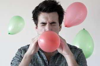 Inflar globos en los sueños