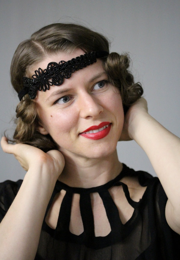 1920s Party Headband #flapper #headband #1920s #vintage #deco #20s #hair