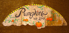 Pumpkin patch sign on vintage barn wood