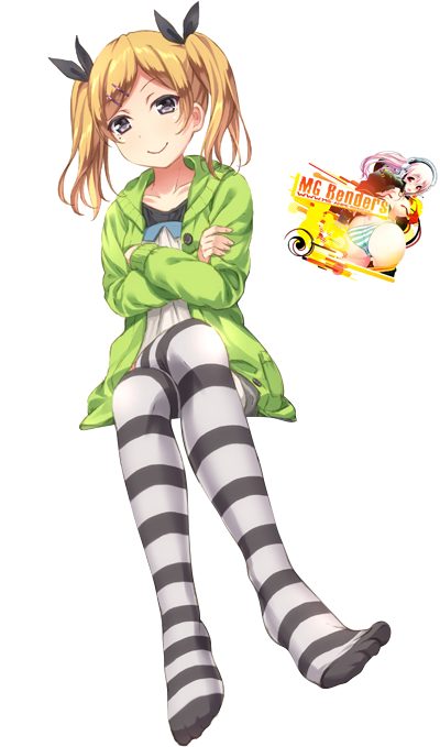 Tags: Anime, Render,  Crossed Legs,  Feet,  Shirobako,  Yano Erika, PNG, Image, Picture