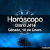 Horóscopo Sábado, 16 de Enero 2016