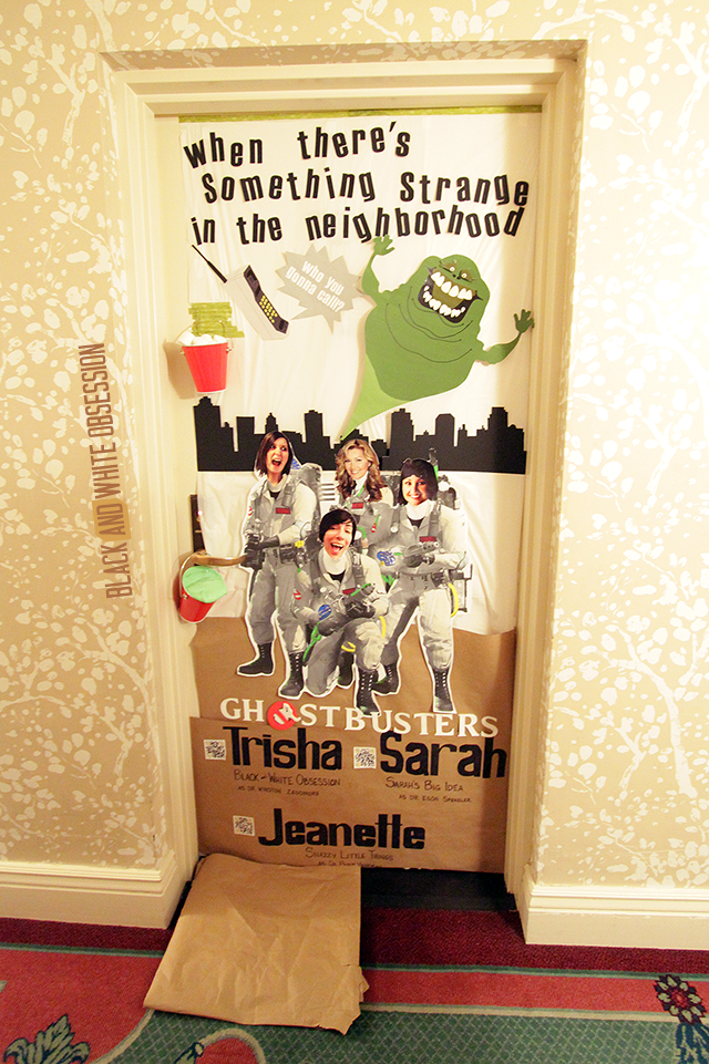 Ghostbuster's Themed Door- Door Decorating Contest | Snap! Recap! A blogging conference for DIY and Crafting Bloggers | www.blackandwhiteobsession.com