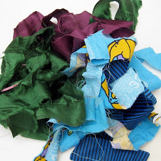 Fabric strips for rag wreath