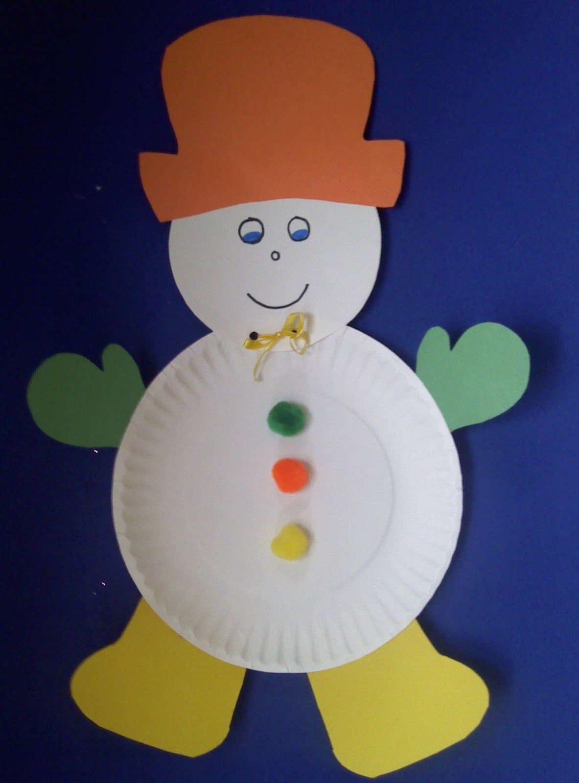 Crafts for preschoolers january 2012 paper plate snowman jeuxipadfo Gallery