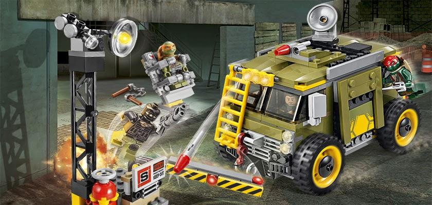 Lego Ninja Rùa Turtle Van Takedown 79115