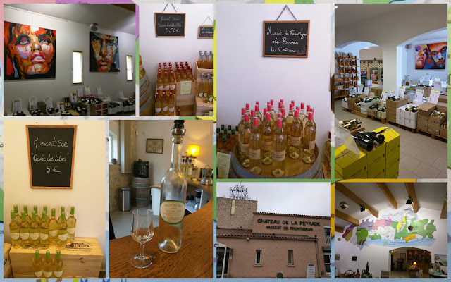 Wine shop at Chateau de la Peyrade in Languedoc, France