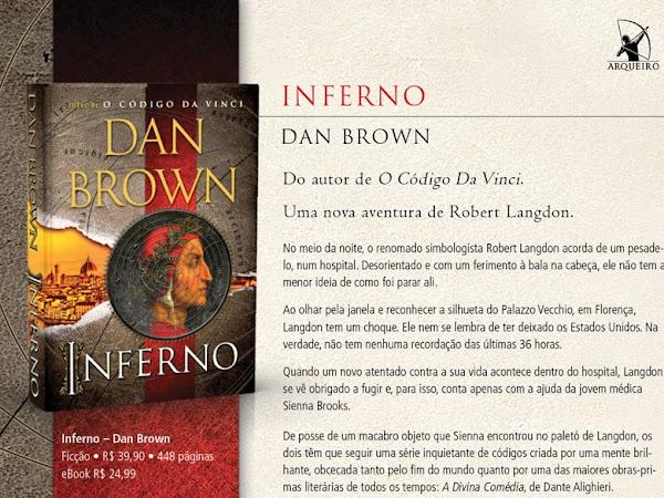 Lançamento: Inferno, Dan Brown, Editora Arqueiro
