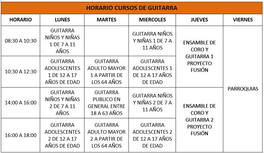 CURSOS GRATUITOS! HORARIOS