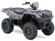 2013 Suzuki KingQuad 750AXi Camo ATV pictures. 480x360 pixels
