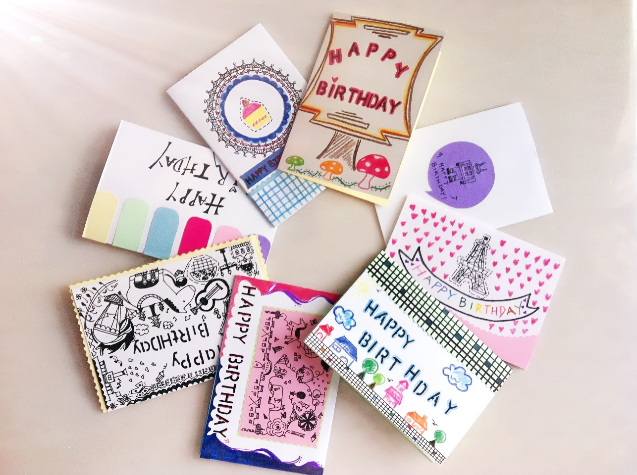 DRAWCARD Birthday Cards Collection from DRAWCARDS – Birthday Card Collection