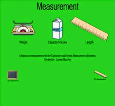 a screen shot of the smart board program measurements