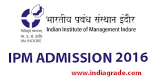 IIM Indore IPM 2016 Application