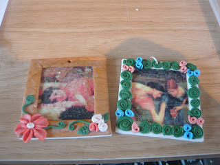 Attempts at image transfer on polymer clay