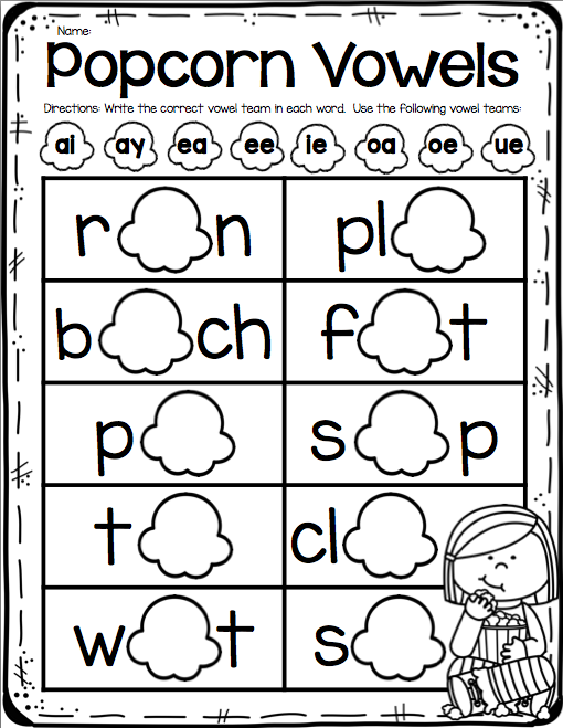 There is also a bonus matching vowel team game included at the end of ...