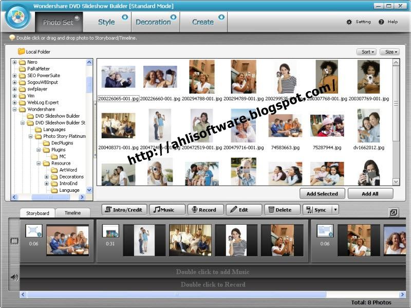 Promo Wondershare DVD Slideshow Builder Standard | Free Download Software Full Version