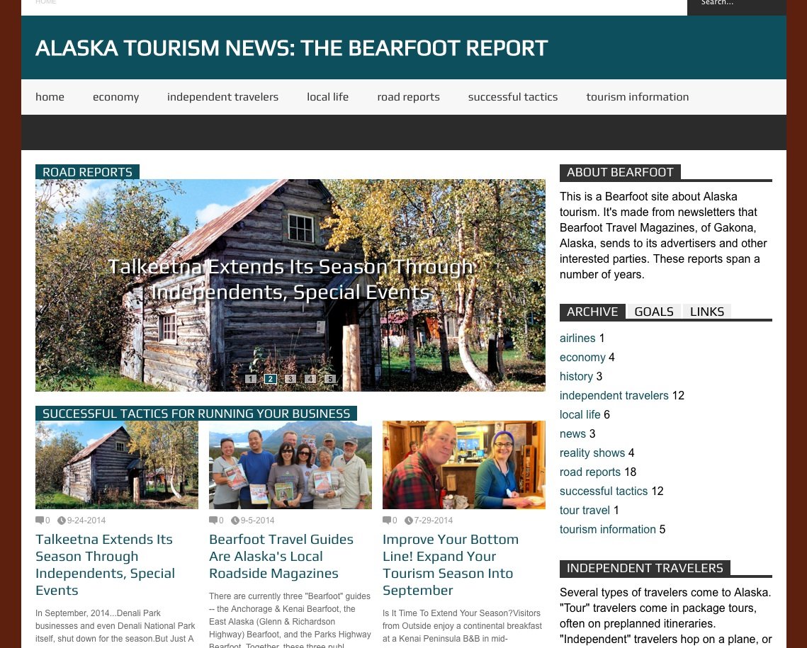 Bearfoot Tourism News Archive