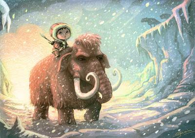 Pereira Samuel, illustration, image, dessins, illustrateur, jeunesse, mammouth, préhistoire