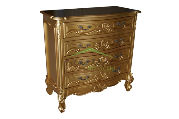 Terlangu Antique Gold Chest of Drawers - Nusa Teak