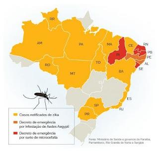 Paraíba e mais cinco Estados decretaram estado de emergência por zika