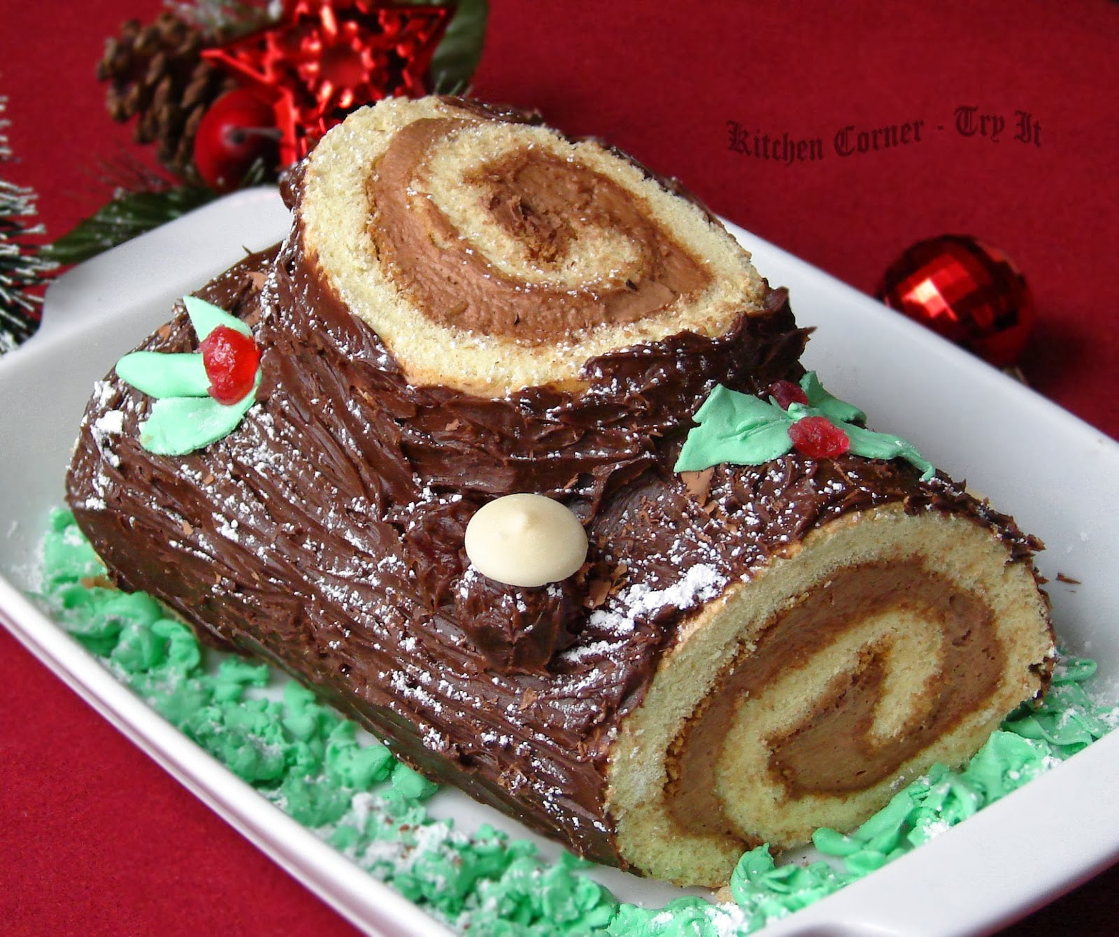 ... -Try It: Bûche de Noël/Yule Log Cake~ Baking Partners Challenge