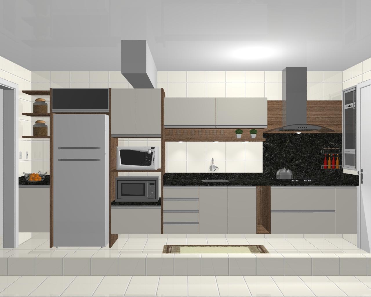 Imagens renderizadas de cozinhas criadas e executadas pela ATUALLE #AD641E 1280 1024