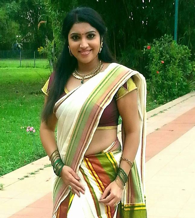 vygha latest hot photos in saree mallufun
