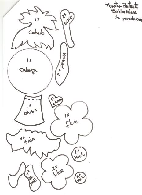 Molde para portaretrato en fomi - Imagui