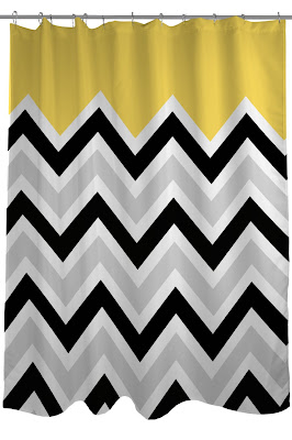 Chic Affordable Yellow And Gray Shower Curtains Sassy Dealz