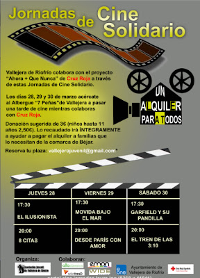 cartel anunciador de la actividad de cine solidario