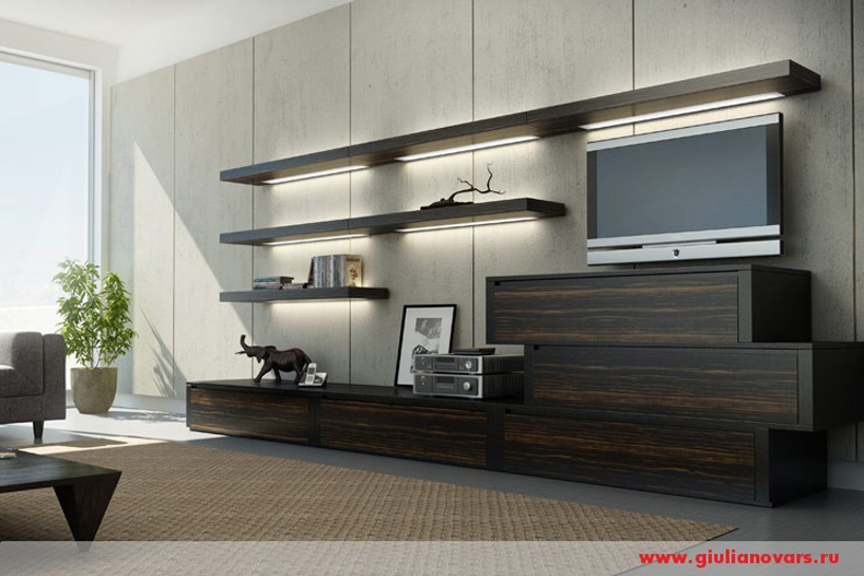 двухцветная мебель гостинные
