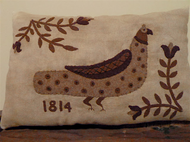 Fraktur Style Pillow