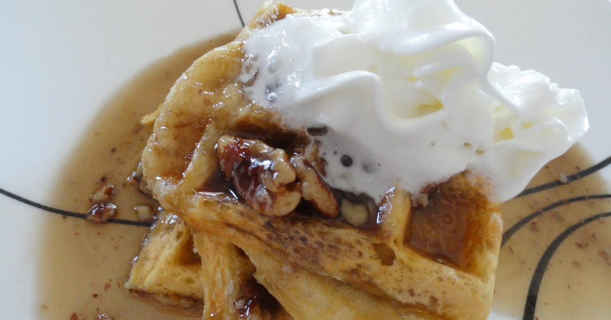 The On-Call Cook: Waffles with Butter Pecan Syrup