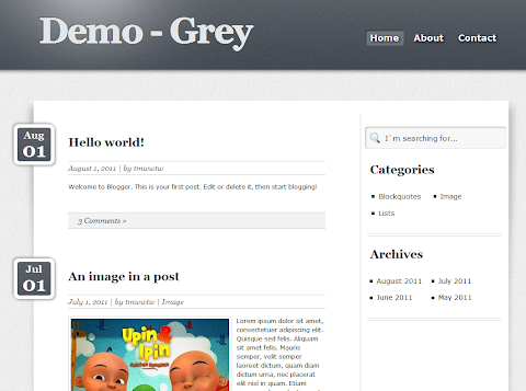 Grey Blogger Theme
