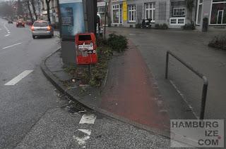 Barmbeker Straße - Radwegwinterdeko
