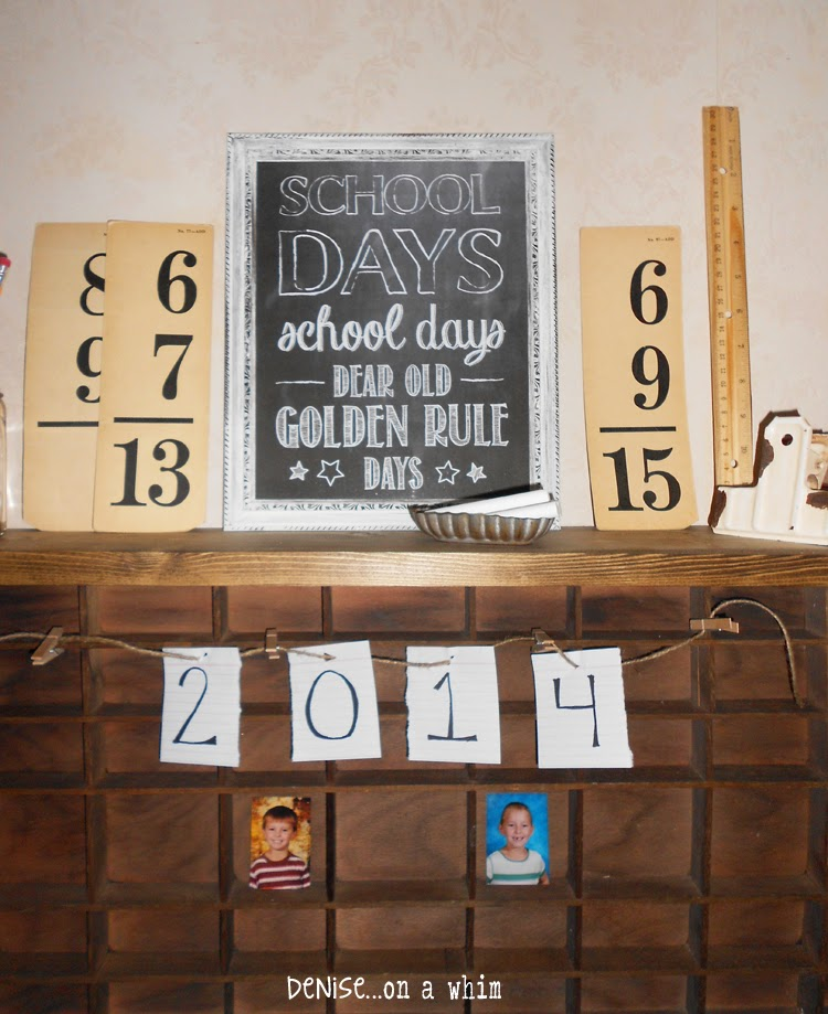 Back to School Vignette from Denise on a Whim