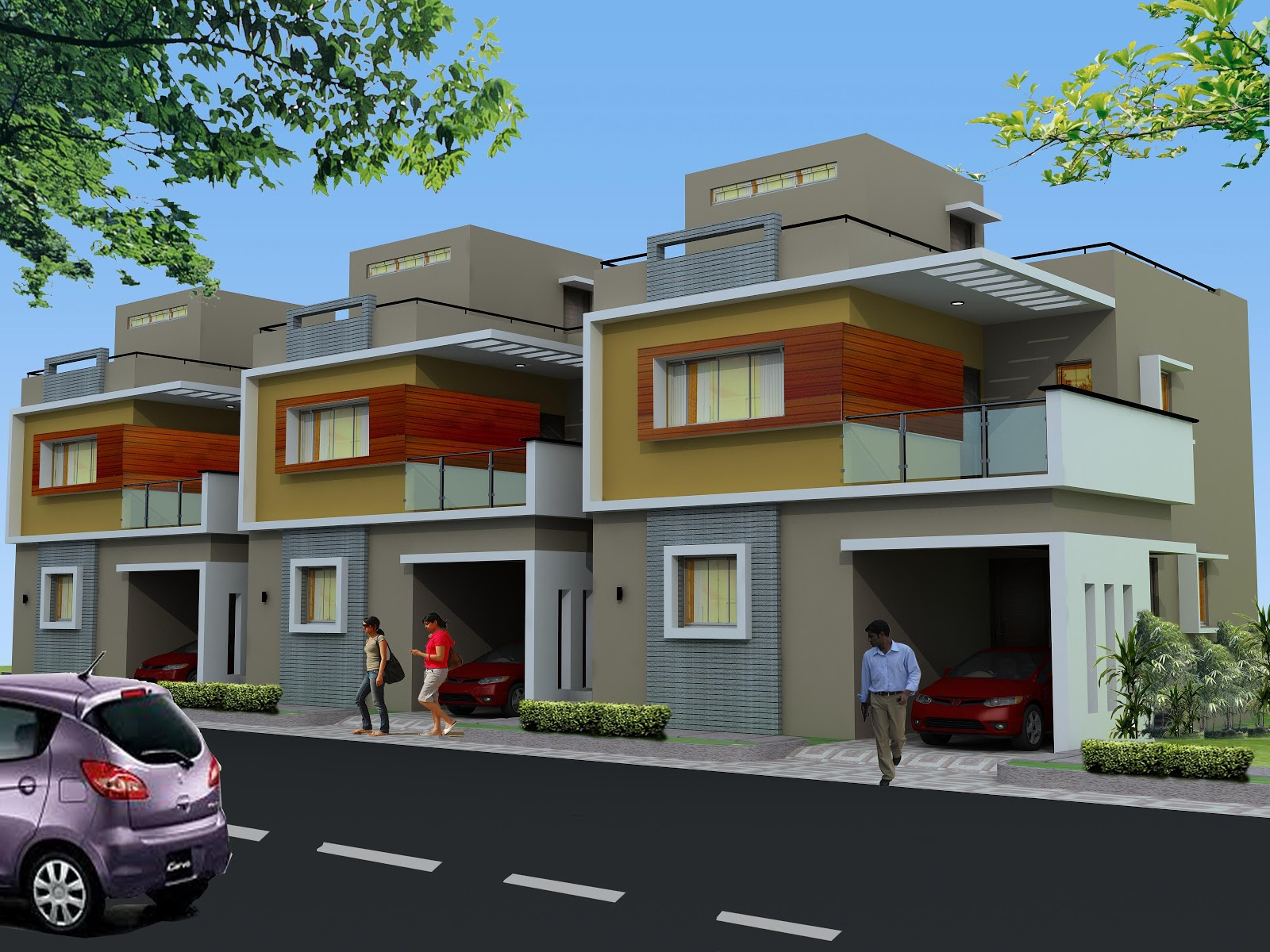 Luxury designer duplex villas for sale lake shore villas for Luxury duplex house plans
