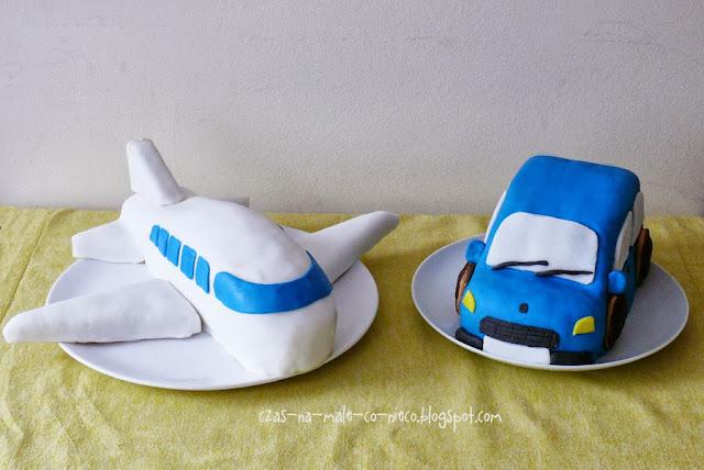 tort samolot i tort samochód