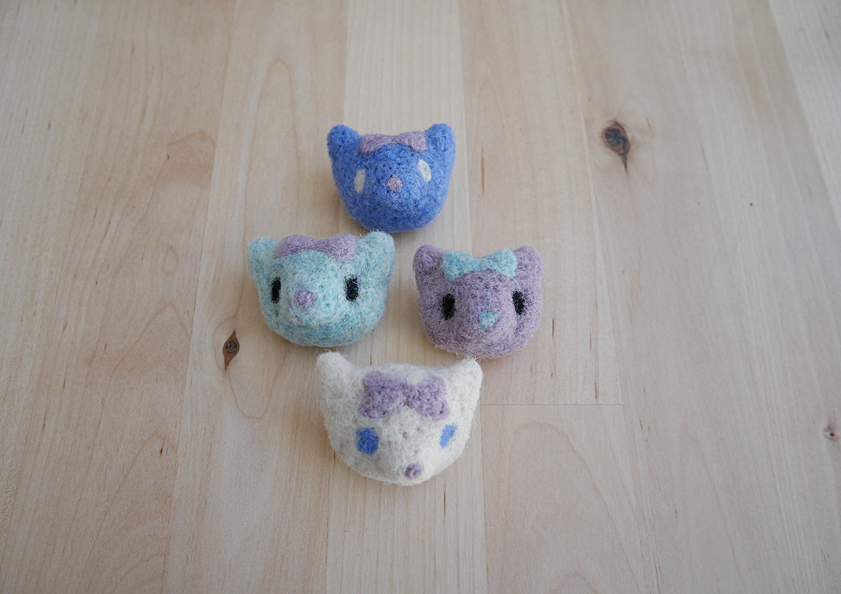needle felt, cats, animals, cute, accessory, brochure, felt
