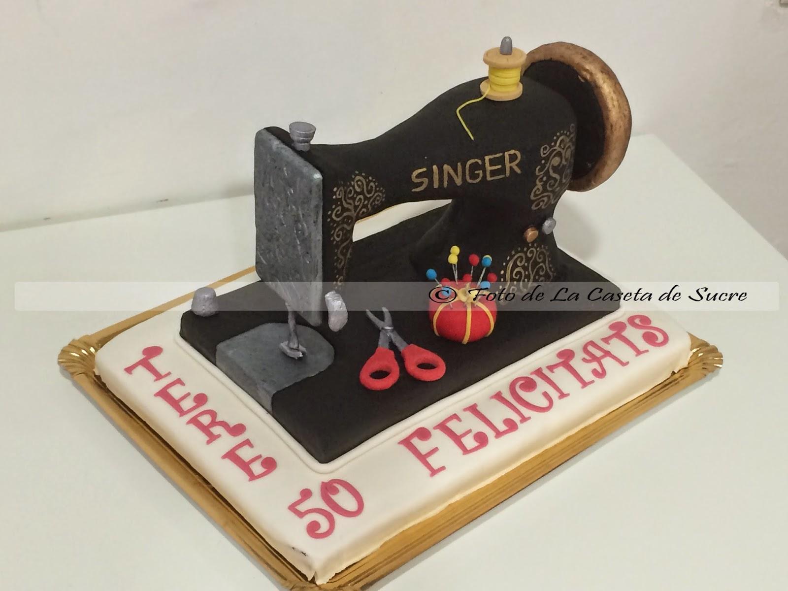 tarta maquina de coser